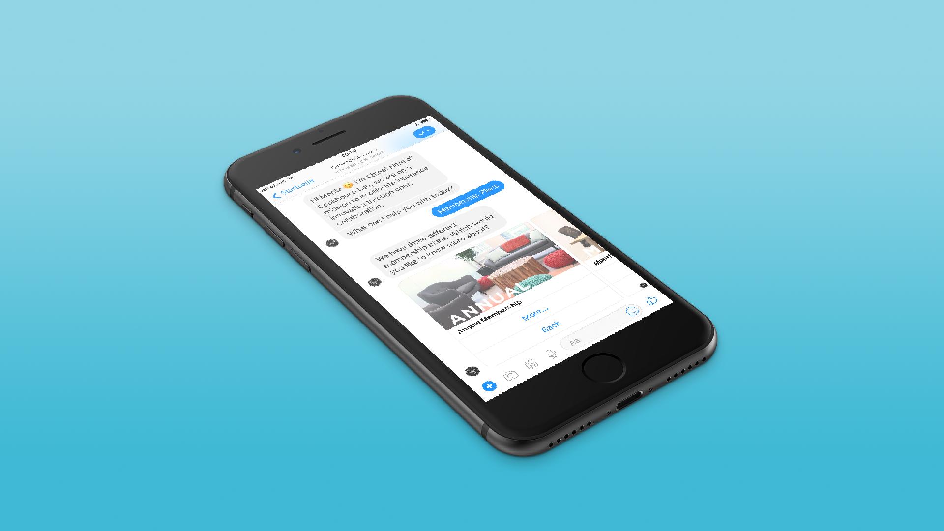 Cookhouse Portfolio Beispiel Kommunikations-Chatbot