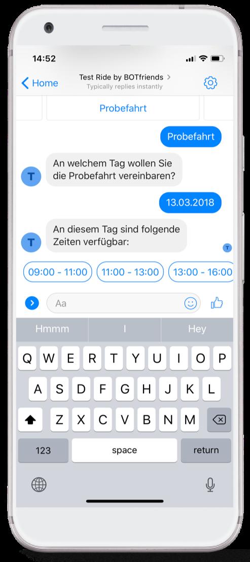 Chatbots für Probefahrten