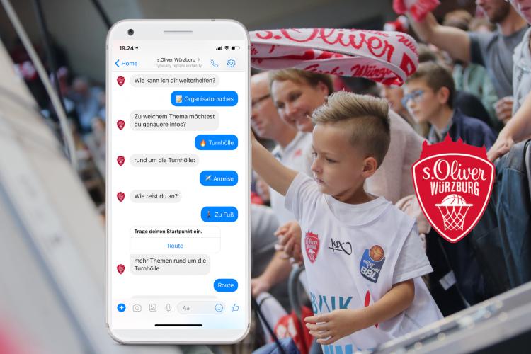 Ein Chatbot für Fans: Das Basketball Bundesliga Team s.Oliver Würzburg führt einen Chatbot ein