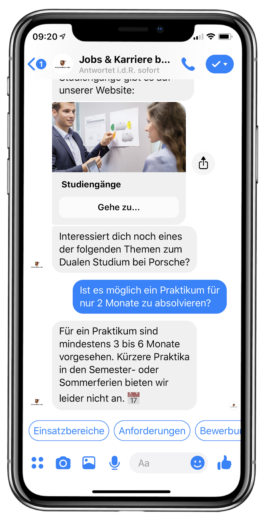 iPhoneX Chatbot Recruiting