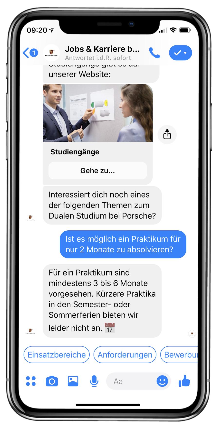 iPhoneX Chatbot Recruiting