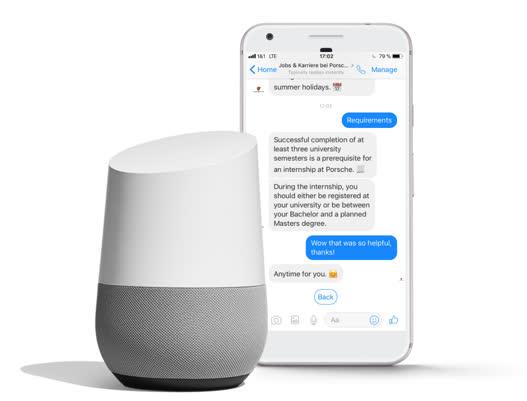 Chatbot Porsche mit Smart Speaker