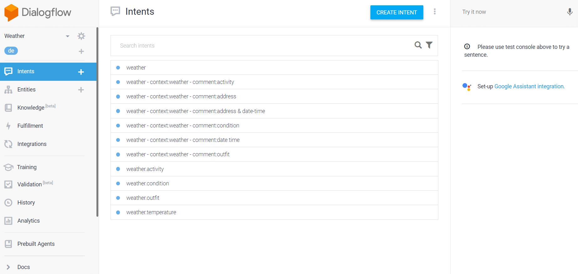 Dialogflow Plattform
