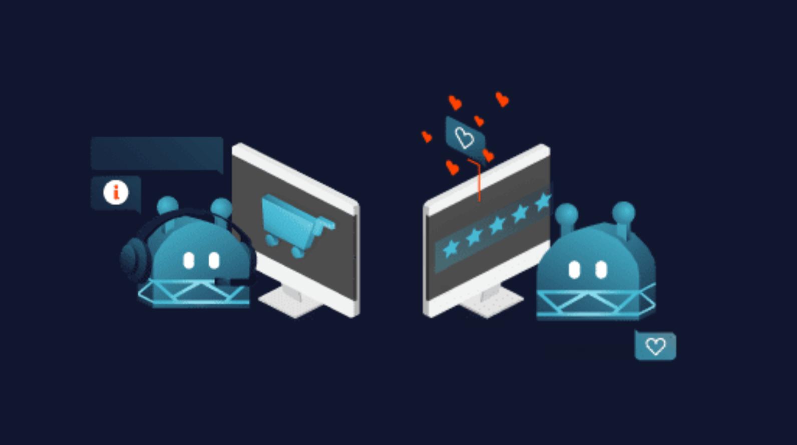 Zwei Bots beraten über die Kundenservice Hotline