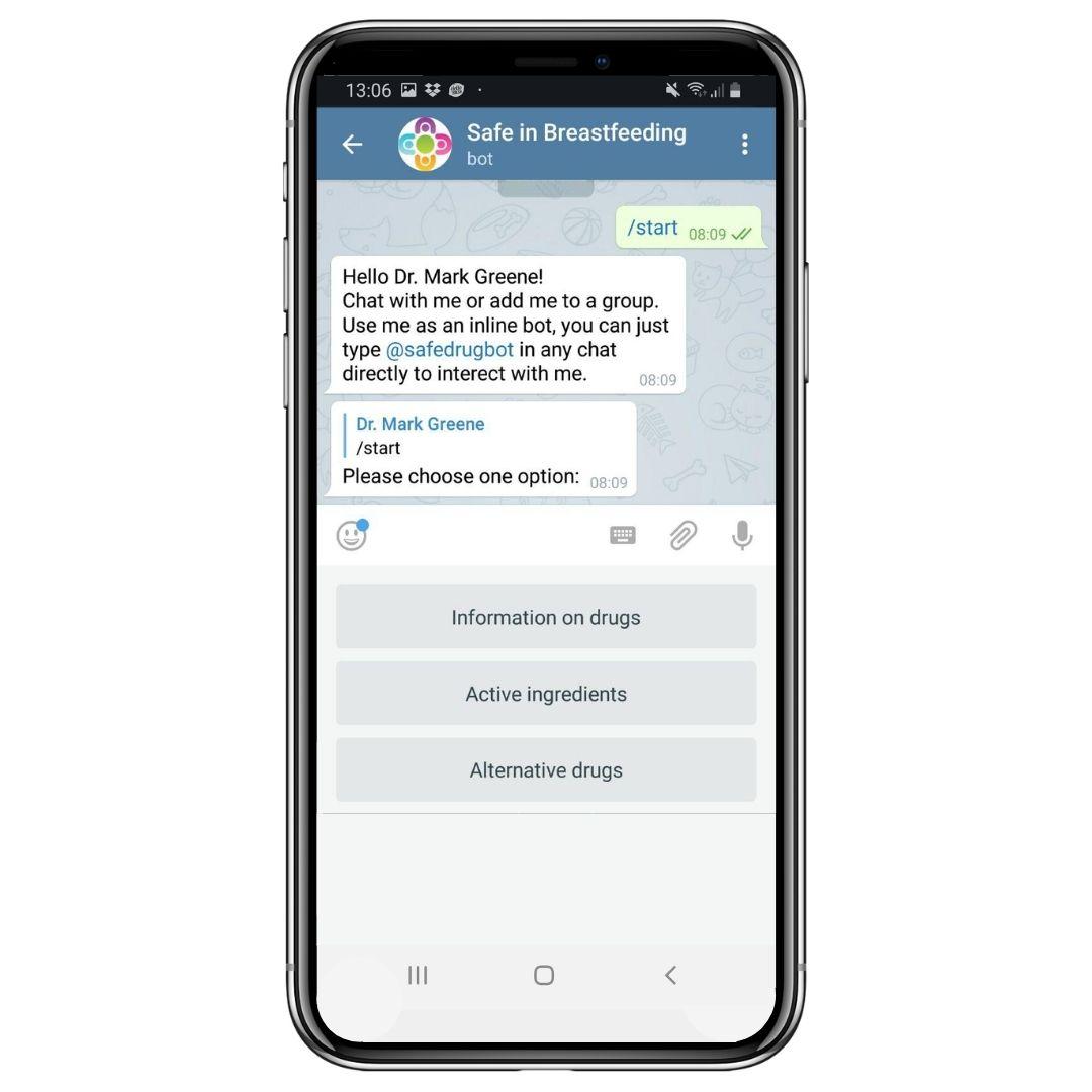 Der Chatbot Safedrugbot berät Ärzte bei der Betreuung von werdenden und stillenden Müttern.