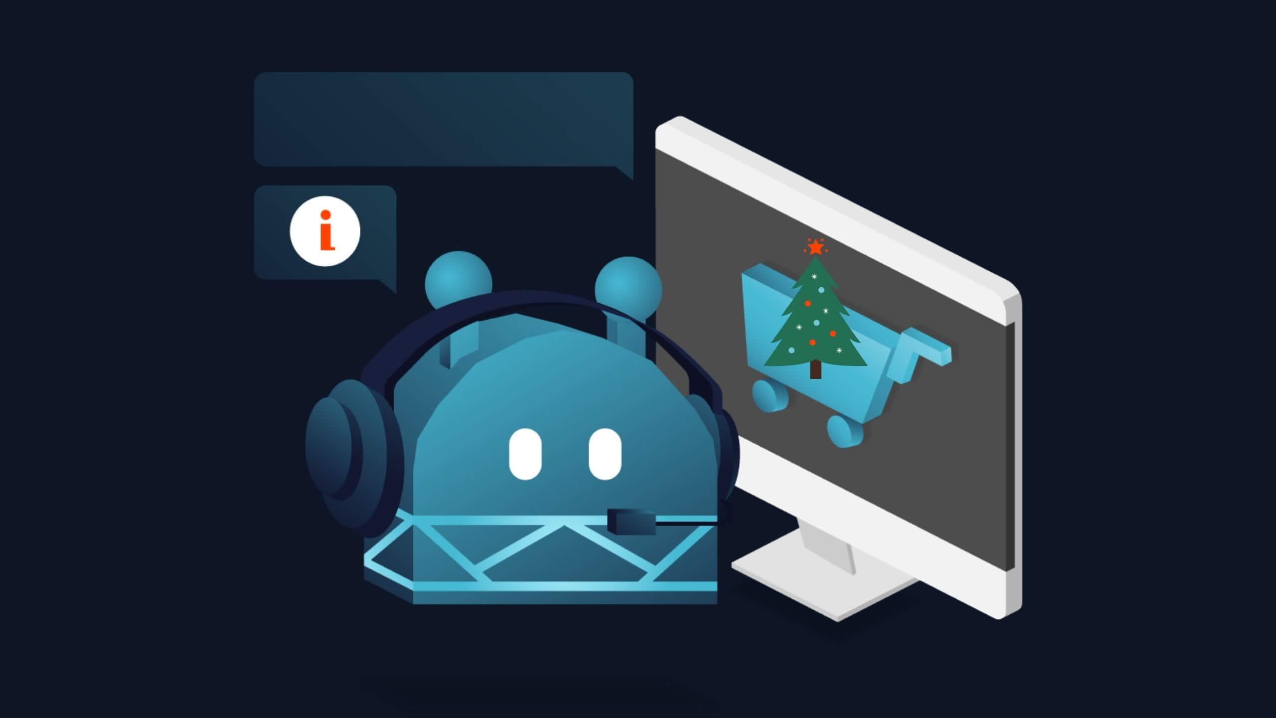 Ein Chatbot hilft beim Weihnachtsgeschäft