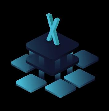 Stilisierte Plattform BOTfriends X