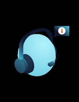Ein Kundenservice Mitarbeiter spricht am Telefon