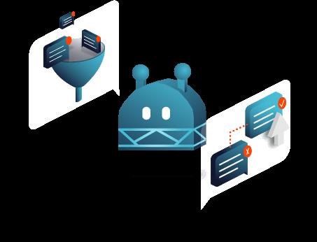 Ein Chatbot wird mit neuen Inhalten trainiert