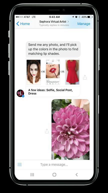 Make Up Beratung mit dem Sephora Chatbot
