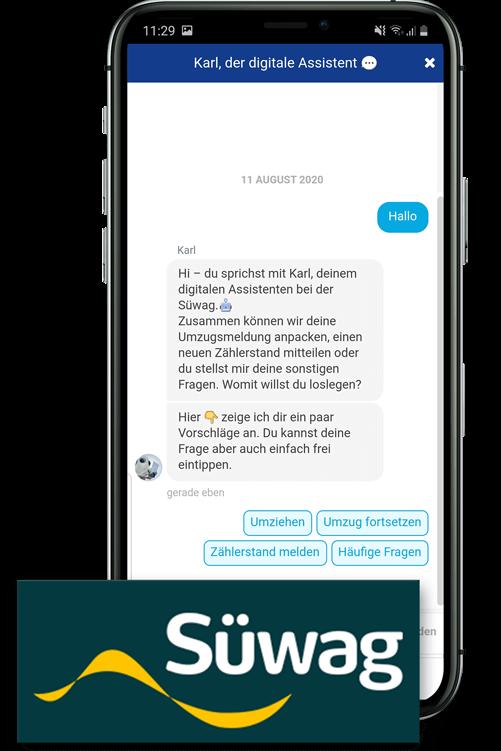 Chatbot von Süwag