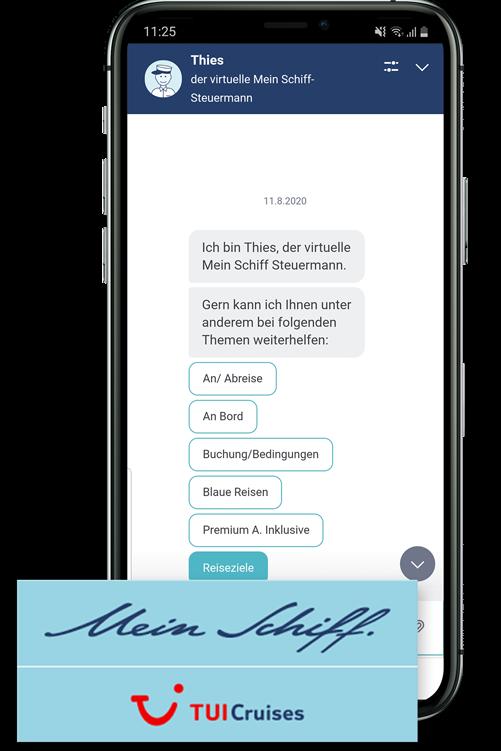 Chatbot von TUI Cruises
